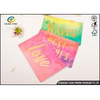 Quality Custom Colorful Paper Birthday Wishes Greetings Card Glossy Lamination for sale