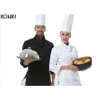 China Men Polyester Fabric Kitchen Staff Uniform Chef Working With Hat on sale