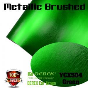 Quality Matte Metallic Brushed Vinyl Wrapping Film - Matte Metallic Brushed Green for sale