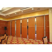 Quality Melamine Carpet Finish Folding Glass Partitions For Meeting Room for sale