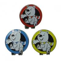 Quality Metal Stylish Personalized Ball Markers Hat Clips Cartoon Design As Golf Themed Gifts for sale