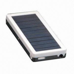 China Portable Solar Power, Battery Capacity of 1,000mAh, Solar Panel of 5.0V, 60mA on sale