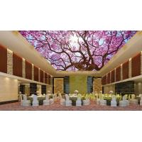 Quality Waterproof Bamboo Fiber Lightweight Ceiling Panels Cherry Blossoms Crystal Surface for sale