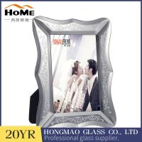 Quality Luxury Design Silver Glass Picture Frames 5x7 Vertical Standing With Matte Button for sale