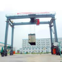Quality 5 Ton 10 Ton  Rubber Tired Gantry Crane Adjustable Height Electric Remote Control for sale
