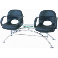 Quality 2 Or 3 Seat Salon Waiting Chairs With Table , Hair Salon Reception Chairs 38cm Seat Height for sale