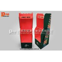 Best 3 Tiers Cardboard Floor Display Stands For Red Wine Promotion wholesale