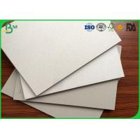 China High hardness 1000gsm grey Board Paper sheet 0.45mm ~ 4.5mm Thickness on sale