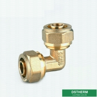 China Equal Threaded Elbow Pex Brass Fittings Brass Color Customized Logo Screw Fittings Middle Weight for sale