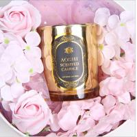 China Gold Glass Jar Room Scented Candles Electroplated Luxury Scented Candle on sale