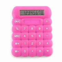 Quality Promotional Calculator with Silicone Cover and Eight-digit LCD Display for sale