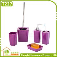 Best Bathroom Set Supplier Modern Fashion Colorful 5 Pcs Bathroom Product For Decor wholesale