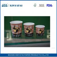 Best Double Wall Disposable Paper Cups 12oz Custom Flexo Printing Insulated Coffee Paper Cup wholesale