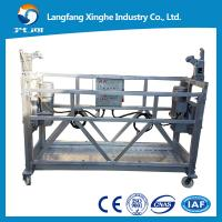 China zlp630 aluminum window cleaning suspended hanging scaffolding with ltd63 electric winch on sale
