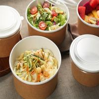 Quality Disposable printed take away paper salad bowl paper cups for hot drinks paper food cups for sale