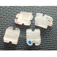 Quality Orthodontic Bracket ceramic translucent with convex base ROTH 0.018 0.022 for sale