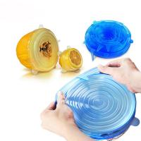 Quality Clear Color Silicone Lids Stretch Food FDA (6 pack/7pack/8pack) for sale