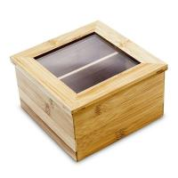 China customized bamboo wooden tea chest boxes tea storage container on sale