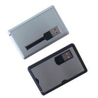 Quality New arrival metal OEM Promotion Credit Card drives with 512mb 1g 2g 4g 8g 16g for sale