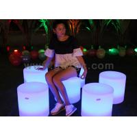 Best Rechargeable Battery operated Bar Furniture LED lighting Glowing Round Stool for Night Bar and Club wholesale