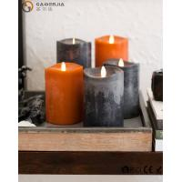 China Flame LED wax fall Candle of natural beauty and beautiful autumn colors on sale