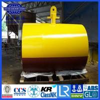 Quality Steel structured offshore mooring buoy, Yellow Painted steel structure Mooring Buoy for sale