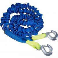 Quality Polyester Round Tow Straps With Hooks for sale