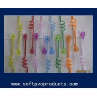 Quality Food Grade PVC Plastic Drinking Straw Holder / Curly Straw / Cocktail Straws for Bar for sale