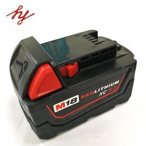 China Milwaukee 18volt 9.0Ah Capcacity li-ion power tool battery  corldess impact drill battery lithium hammer battery on sale