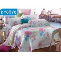 Quality Full Queen Cotton Bedding Sets / Comfortable Breathable Floral Bedding Sets for sale