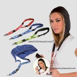 Best Factory Custom Hoody Lanyard/Rain Hat Lanyard wholesale