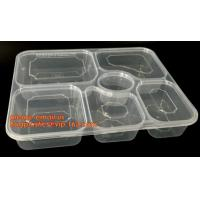 Quality Disposable biodegradable plastic fiffin lunch box,compartment lunch box with lid,clamshell food packaging macaron pp bli for sale