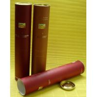 China Red Round Cylinder Custom Paper Tubes with Tinplate Lids for Wine Bottoles, Wine Packing on sale