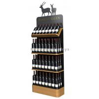 Quality Freestanding Custom Wooden Wine Display Rack For Liquor Store Advertising for sale