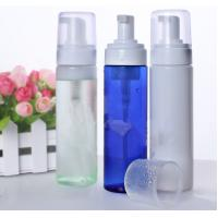Quality Clear Empty Foam Pump Bottle Dispenser 200ml PET Cosmetic  With White Cap for sale
