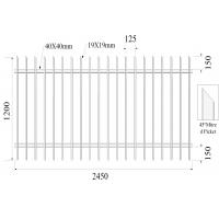 Quality H1200mmxW2450mm Hercules Fence Panels 45 mitred Picket 19mm*19mm Rail 40mmx40mm x 2 for sale