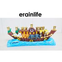 Noah's Ark Polyresin Figurines House Decorating Candle Stick Holders For Children