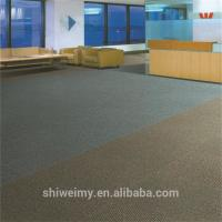 China Ribbed surface double colors striped level loop PP carpet tiles on sale