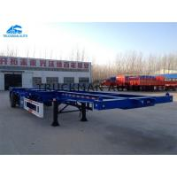 China Skeletal Container Semi Trailer Loading 20 / 40 Feet 12 Units Container Lock on sale