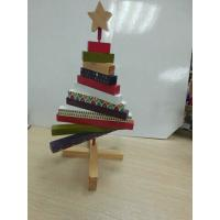 China Mini Christmas Wooden Tree ,  Artistic Wood Crafts Colorized 180 X 250 X 20mm on sale