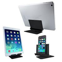 China Black Rotating Lazy Aluminum Cell Phone Stand , Tablet Pc Metal Phone Stand on sale