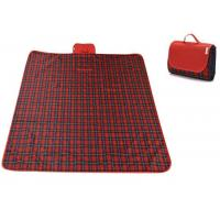 Quality Red Checkered Picnic Blanket Sand Proof For Outdoor Family Party for sale