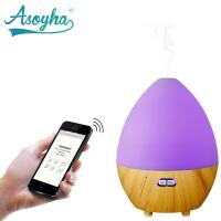 Quality Bluetooth & App Audio Ultrasonic Cool Mist Humidifier Egg Shape With Colorful Lights for sale