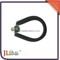 China Iso Zn - Plating Epdm Rubber 5 Inch Pipe Hanger Clamp With M8 Or M10 Nut on sale