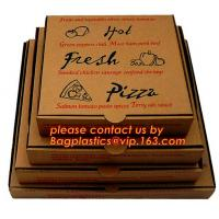 China Cheap Custom offset printing corrugated pizza box, micro-flute die cut corrugated pizza boxes, kraft paper pizza box, cu on sale
