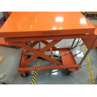 Four Wheels Mobile Lift Table With Scale , Hydraulic Table Lift Jack Cart