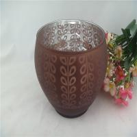 Quality colored bowl candle holder of glass materials for sale