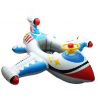 Quality Kids White Plane Shaped Inflatable Swim Ring PVC Seat Float Boat 0.2mm Thickness for sale