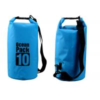 Quality Outdoor Activities 10l Dry Storage Bags Watertight With Shoulder Strap for sale