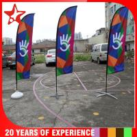China manufacture 2.8-5.6m Colorful beach flag stand,advertising beach flag banners,beach flag with pole and base on sale